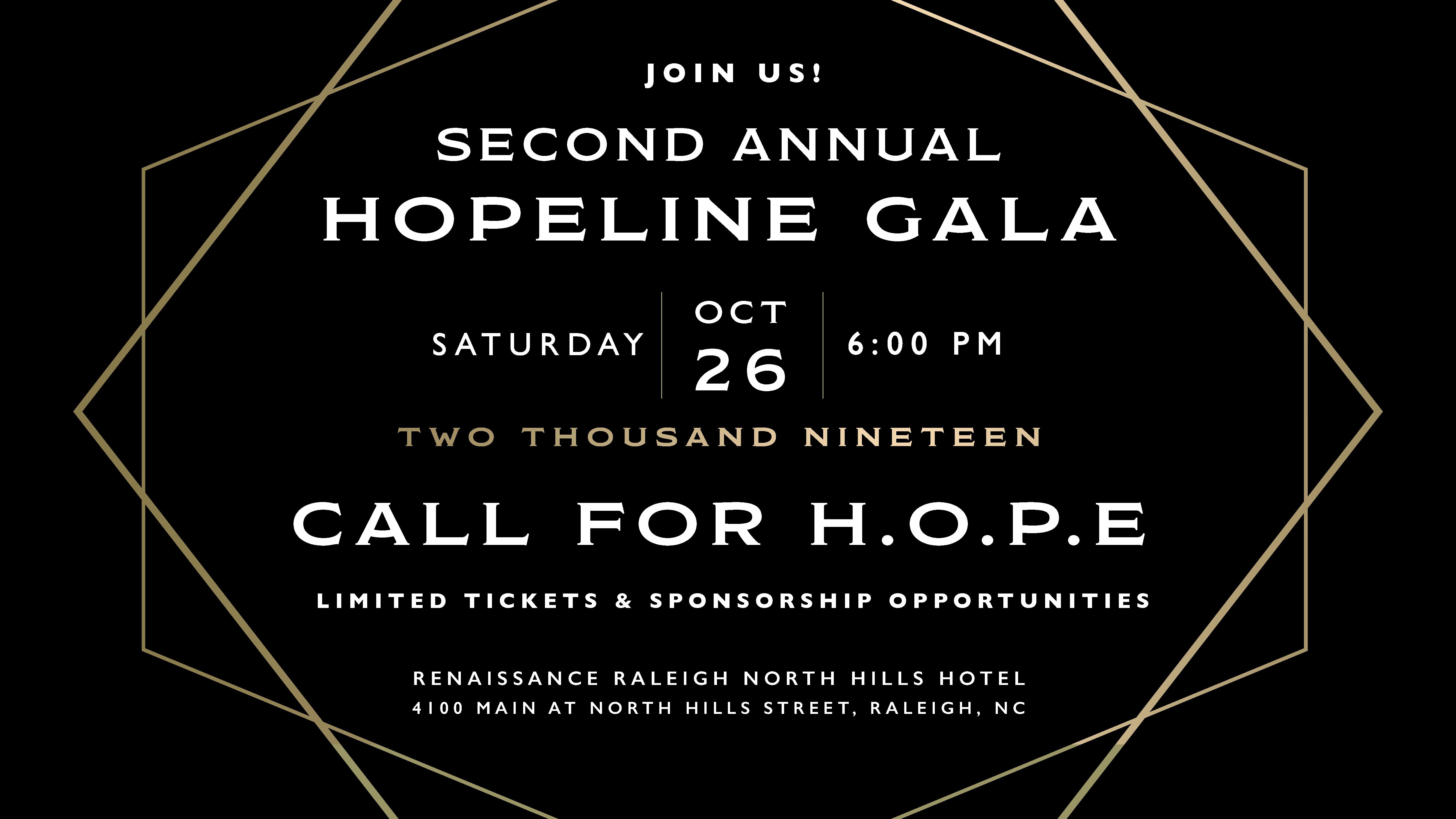 2019 Call for H O P E  Gala