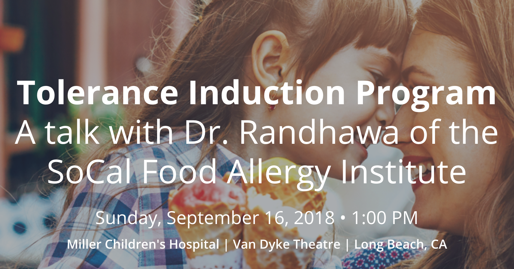 A Talk with Dr  Randhawa -the Tolerance Induction Program