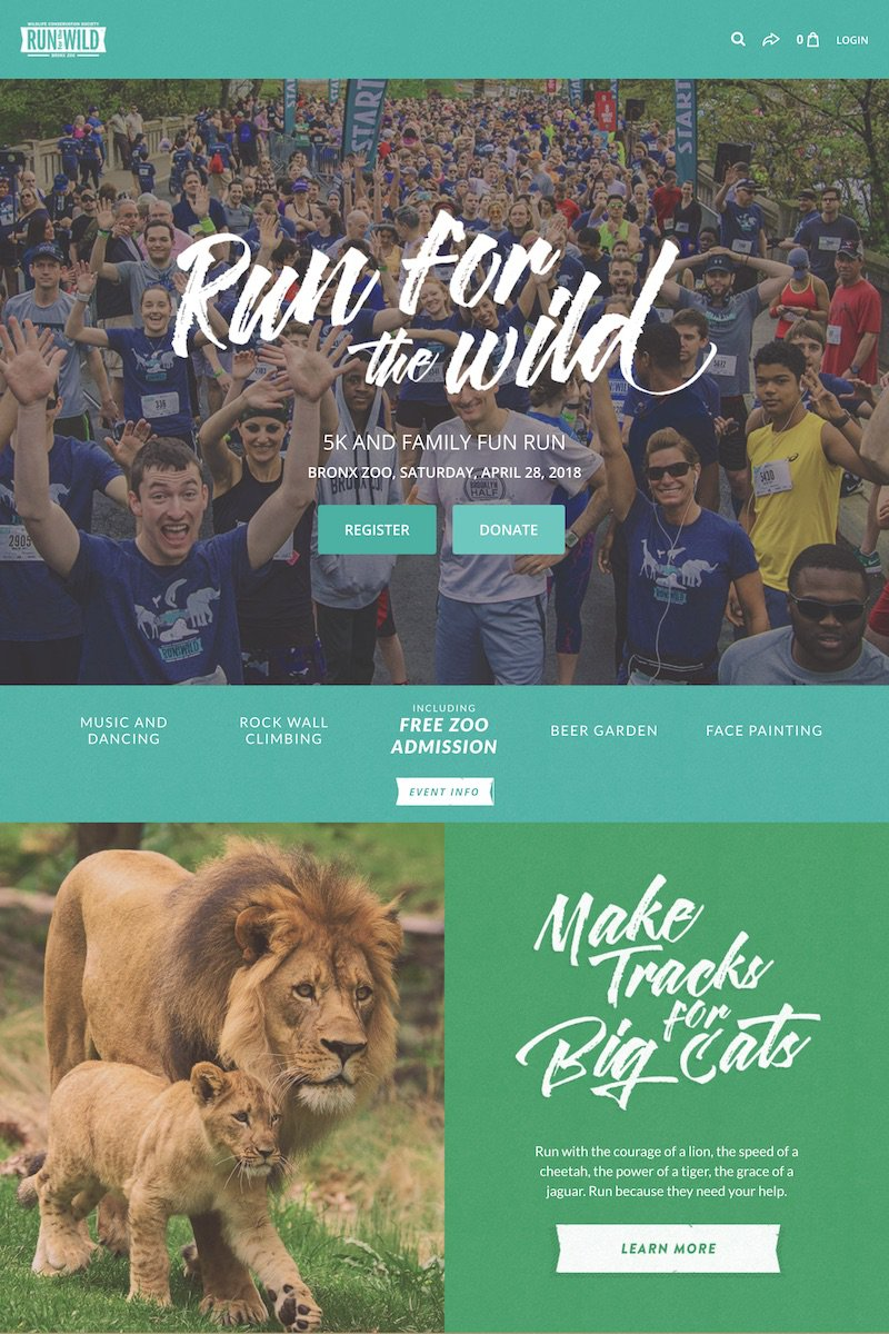 Run for the Wild event on Classy