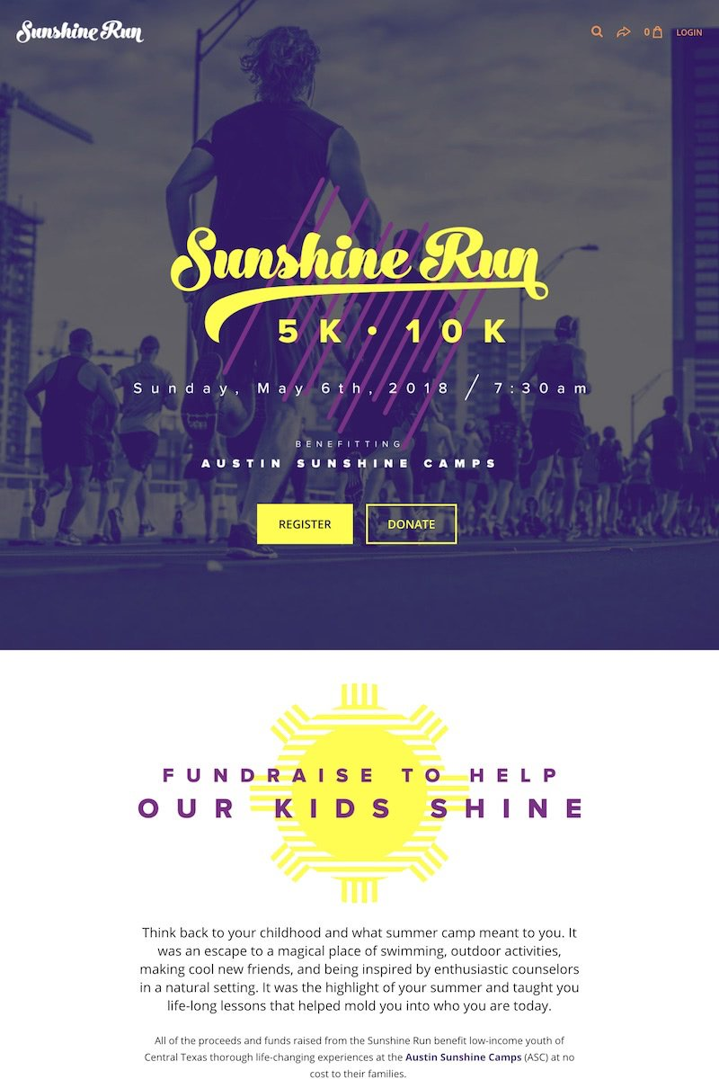 Sunshine Run event on Classy