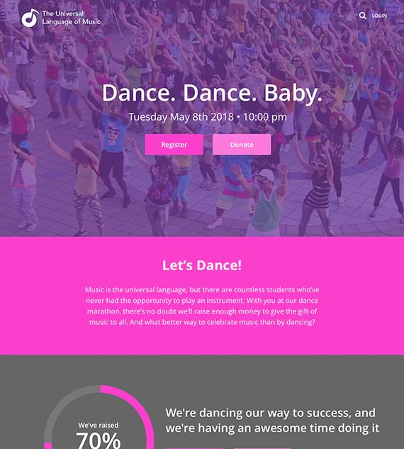 Dance Marathon fundraising event on Classy