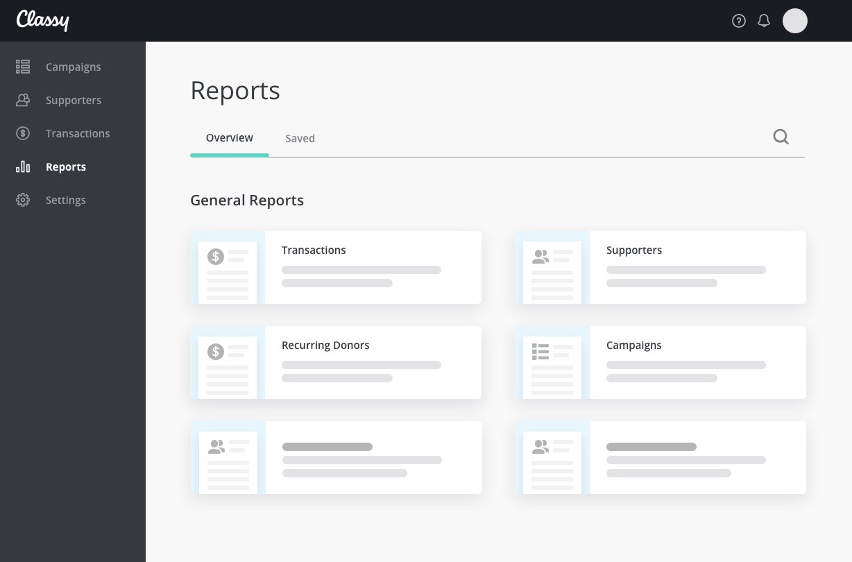 custom and saved reporting functions