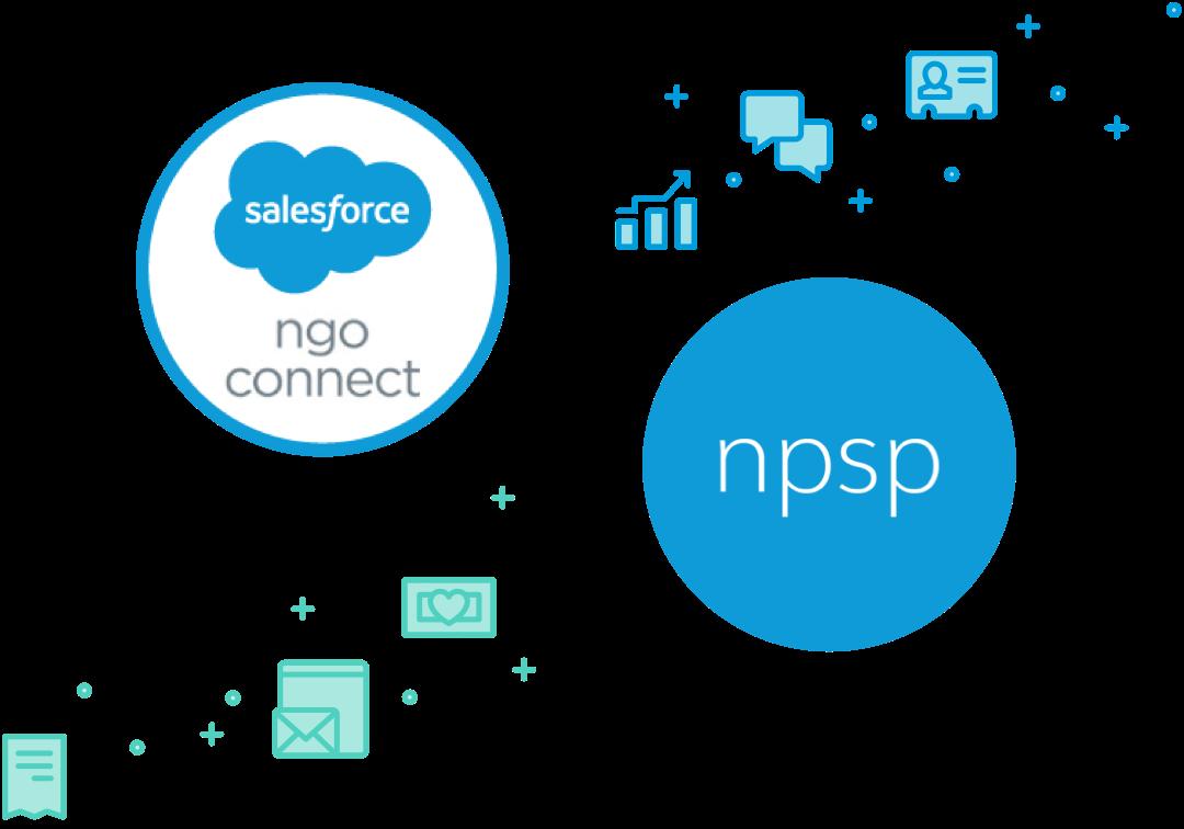 Salesforce NGO Connect logo & NPSP