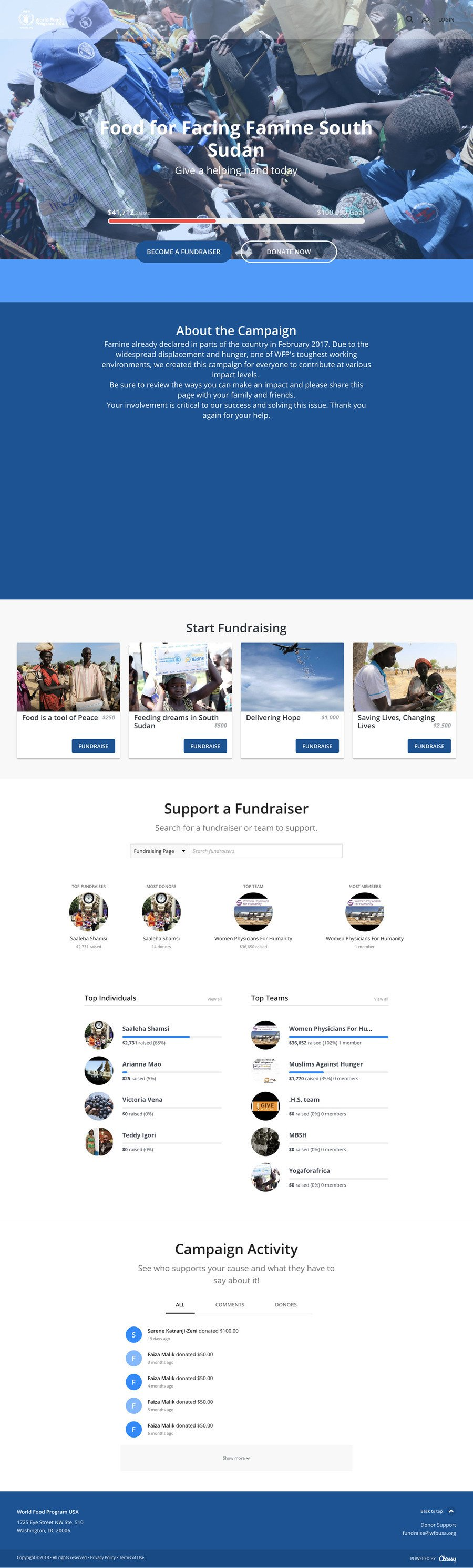 Fighting Famine in South Sudan - Food Relief , a Peer-to-Peer campaign on Classy.org