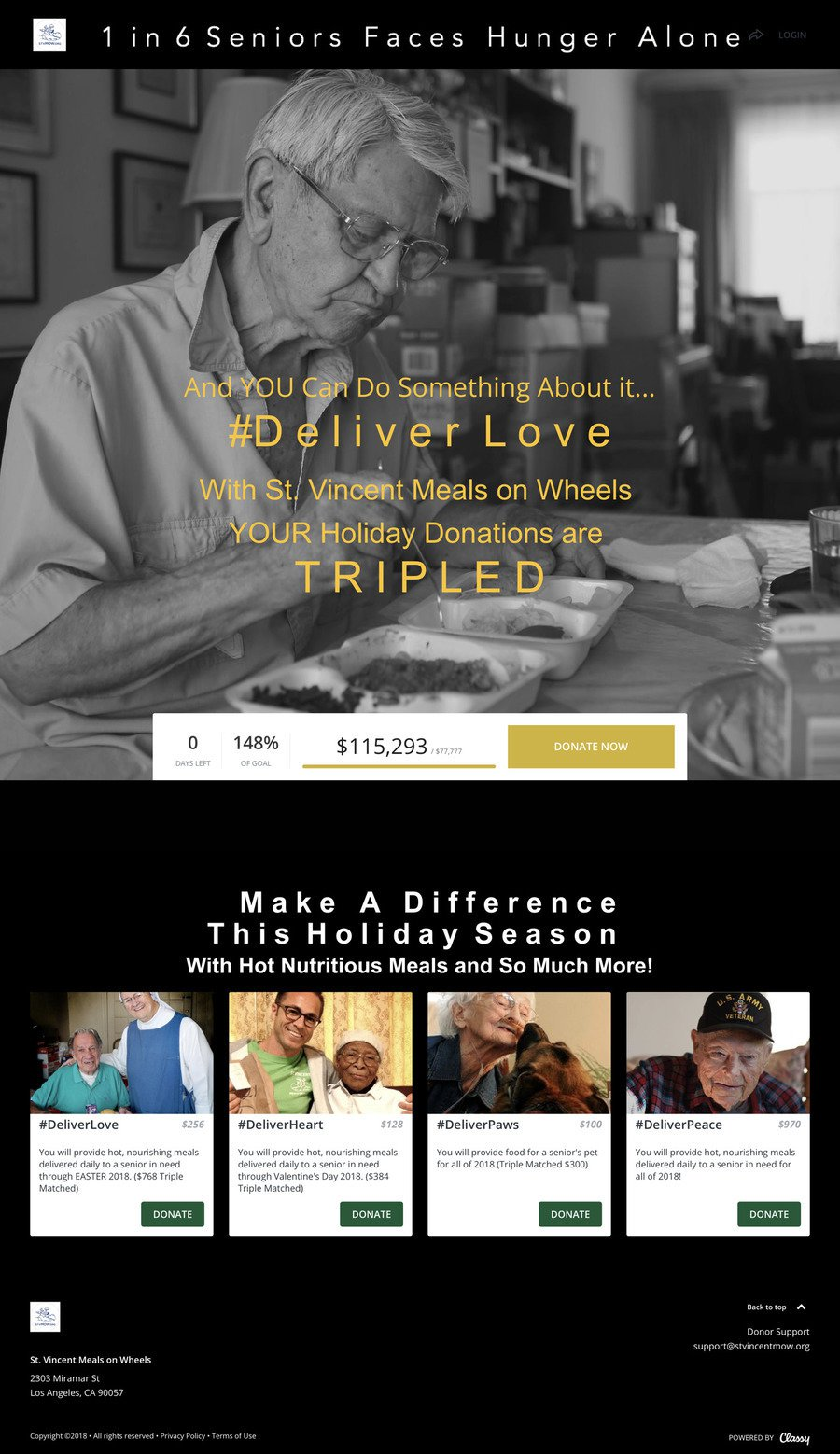 #Deliver Love to Homebound Seniors 2017 , a Crowdfunding campaign on Classy.org