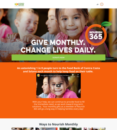 Food Bank of Contra Costa and Solano's Nourish 365 Campaign thumbnail
