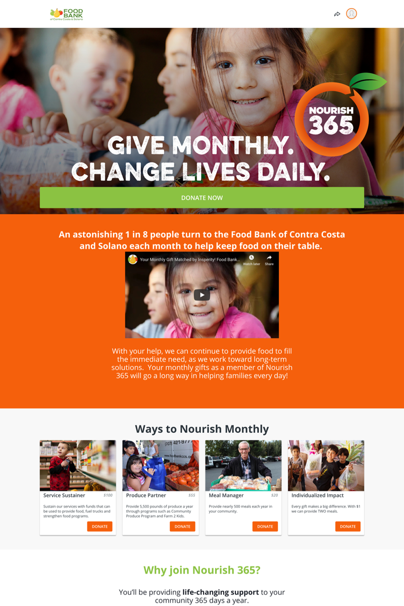 Food Bank of Contra Costa and Solano's Nourish 365 Campaigncampaign image