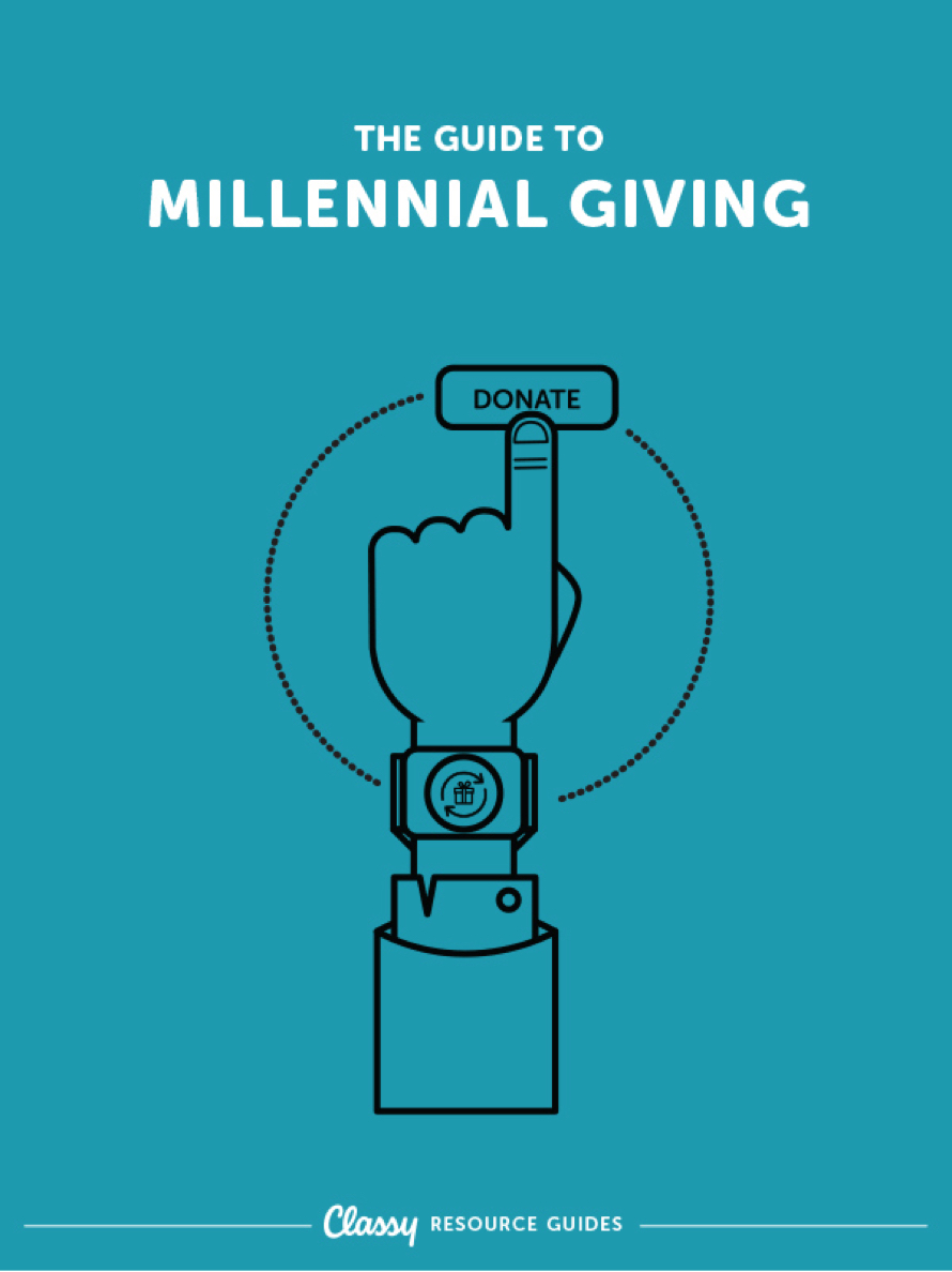 The Guide To Millennial Giving resource guide cover