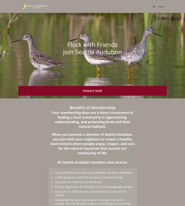 Seattle Audubon Society's Membership Campaign thumbnail