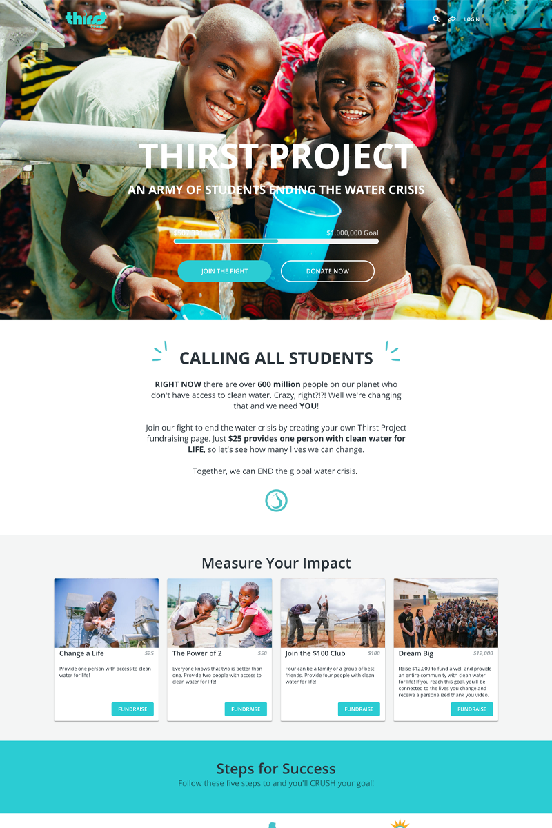 Thirst Project's Student Fundraising Campaigncampaign image