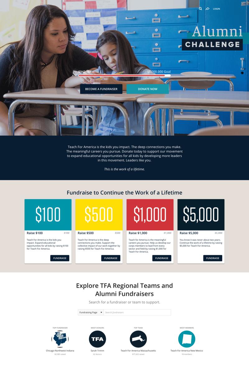 Teach For America's Alumni Challengecampaign image