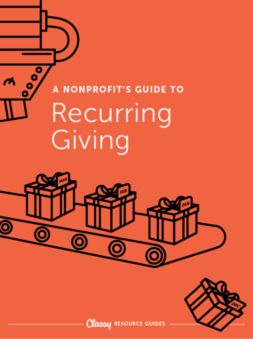 A Nonprofit's Guide to Recurring Giving resource guide cover