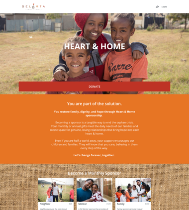 Selamta Family Project's Heart and Home Campaign thumbnail