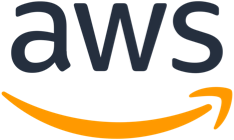 Logo for the Amazon Web Services cloud platform