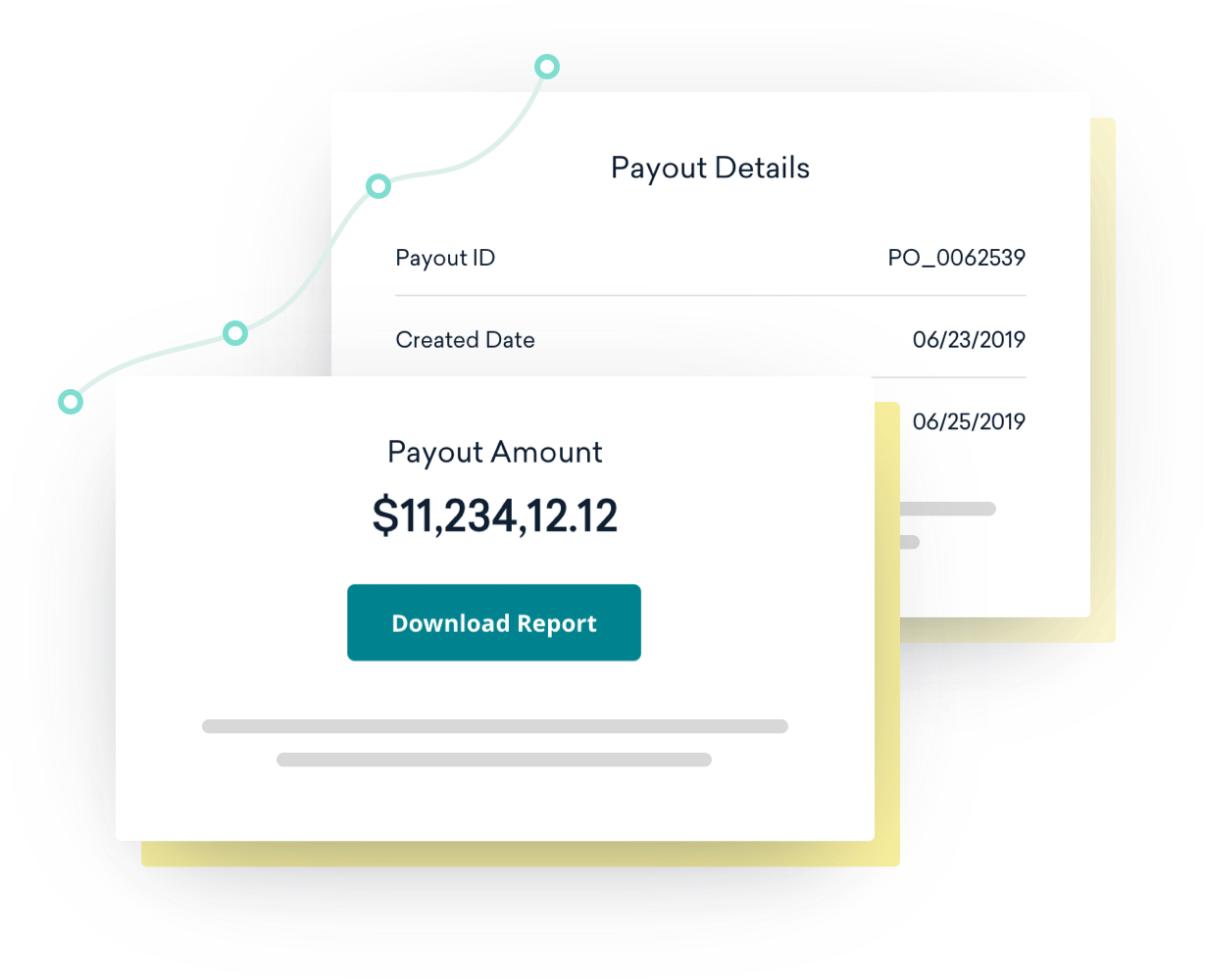 Example of a Classy Pay payout report with all transaction data